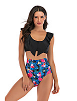 cheap -Women's Two Piece Swimsuit Nylon Swimwear Breathable Quick Dry Sleeveless 2-Piece - Swimming Surfing Water Sports Summer / Stretchy