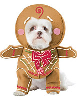 cheap -gingerbread pup pet costume