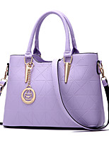 cheap -Women's Bags PU Leather Top Handle Bag Bow(s) Zipper for Daily / Date Wine / White / Black / Fuchsia
