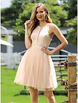 cheap -Women's A-Line Dress Short Mini Dress - Sleeveless Solid Color Patchwork Spring Summer Casual Going out Loose 2020 Beige S M L XL