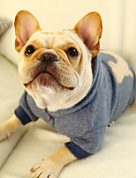 cheap -Dog Coat Hoodie Character Casual / Daily Cute Casual / Daily Winter Dog Clothes Warm Gray Costume Cotton S M L XL XXL