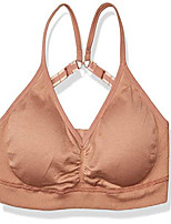 cheap -amazon brand - women's seamless padded everyday bra, café au lait, medium