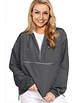 cheap -Women's Hiking Windbreaker Winter Outdoor Solid Color Thermal Warm Waterproof Windproof Breathable Jacket Full Length Visible Zipper Fishing Climbing Camping / Hiking / Caving Black / Grey / Green