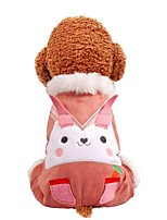 cheap -Dog Coat Jumpsuit Rabbit / Bunny Casual / Daily Cute Casual / Daily Winter Dog Clothes Warm Pink Costume Polyster XS S M L XL