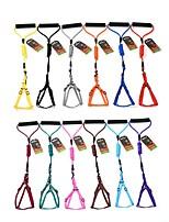 cheap -Dog Cat Harness Leash Portable Trainer Vest Escape Proof Solid Colored Polyester Golden Retriever Japanese Spitz Beagle Bulldog Shiba Inu Shih Tzu Black Purple 1 set