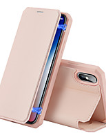 cheap -Case For  Apple iphone X XS MAX XR 11 PRO MAX  Card Holder Shockproof  Flip Full Body Cases Solid Colored PU Leather TPU