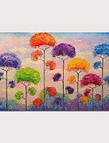 cheap -Oil Painting Hand Painted Abstract Landscape Modern Stretched Canvas With Stretched Frame