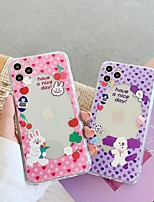 cheap -Case For Apple iPhone 7 8 7plus 8plus X XR XS XSMax SE(2020) iPhone 11 11Pro 11ProMax Shockproof Ultra-thin Pattern Back Cover Food Word Phrase Animal TPU