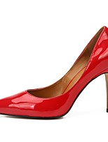 cheap -Women's Heels Stiletto Heel Pointed Toe Sexy Daily Party & Evening Solid Colored PU Black / Red