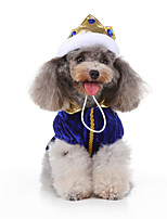 cheap -Dog Halloween Costumes Costume Dress Princess Casual / Sporty Cool Christmas Party Dog Clothes Breathable Blue Costume Polyester S M L XL