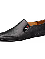 cheap -Men's Summer Casual Daily Loafers & Slip-Ons Nappa Leather / PU Non-slipping Light Brown / Dark Brown / Black