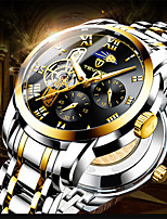 cheap -Tevise Men's Mechanical Watch Automatic self-winding Modern Style Stylish Casual Water Resistant / Waterproof Analog Black / Silver Black+Gloden Black / Stainless Steel / Stainless Steel / Moon Phase