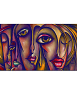 cheap -Large Hand painted Abstract Portrait Oil Painting On Canvas oil Paintings Wall Art Home Decoration Wall Pictures for living room Rolled Without Frame