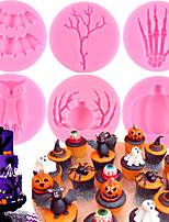 cheap -Halloween Silicone Candy Chocolate Molds Fondant Cake Decorating Tools