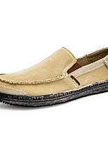 cheap -Men's Summer Daily Outdoor Loafers & Slip-Ons Canvas Dark Grey / Black / Khaki