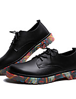 cheap -Men's Spring / Summer Business / Classic / Casual Daily Office & Career Oxfords PU Breathable Non-slipping Wear Proof Black