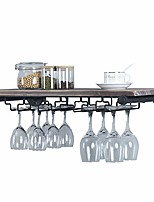 cheap -industrial pipe shelving hanging stemware racks,rustic wall mounted wine rack with 5 glass holder,steampunk iron floating bar shelves stemware holder,24in metal real wood shelf wall shelf