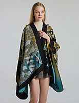 cheap -Women's Cloak / Capes Regular Plants Daily Basic Black Yellow Wine One-Size