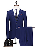 cheap -Tuxedos Tailored Fit Notch Single Breasted Two-buttons Polyester Solid Color / Classic