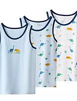cheap -Kids Boys' Basic Blue Dinosaur Animal Print Sleeveless Tank & Cami Light Blue