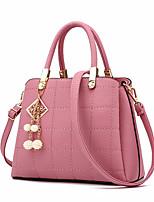 cheap -Women's Bags PU Leather Crossbody Bag Zipper for Daily / Date Wine / Black / Purple / Blushing Pink