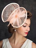 cheap -Queen Elizabeth Audrey Hepburn Retro Vintage 1950s 1920s Kentucky Derby Hat Pillbox Hat Women's Costume Hat Pink Vintage Cosplay Party Prom
