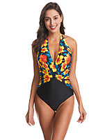 cheap -Women's One Piece Swimsuit Swimwear Breathable Quick Dry Sleeveless Swimming Surfing Water Sports Summer / Stretchy