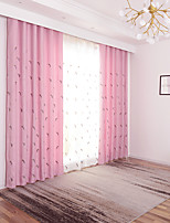 cheap -Two Panel Children's Room Feather Embroidery Thick Curtains Living Room Bedroom Dining Room Curtains