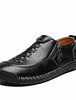 cheap -mens casual shoes breathable loafers walking shoes sneakers hand made lace-up leather flats dress shoes for driving business working office (us 11.5, 3-black)