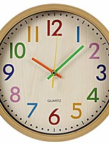 cheap -colorful decorative kids wall clock,12 inch silent non ticking quality quartz battery operated wall clocks,multi colored numbers
