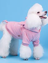 cheap -Dog Coat Hoodie Character Casual / Daily Cute Casual / Daily Winter Dog Clothes Warm Blue Pink Costume Cotton S M L XL XXL XXXL