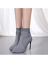 cheap -Women's Boots Pumps Pointed Toe Casual Basic Daily Solid Colored Suede Booties / Ankle Boots Walking Shoes Black / Gray