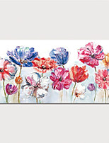 cheap -Hand Painted Canvas Oil Painting Abstract Flowers Home Decoration With Frame Painting Ready To Hang With Stretched Frame