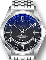 cheap -YAZOLE Men's Sport Watch Quartz Sporty Stylish Casual Water Resistant / Waterproof Analog - Digital White Black / White / Stainless Steel / Calendar / date / day