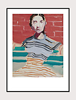 cheap -Framed Art Print Abstract Hand-Painted People Belle Girl Wall Art Modern Home Decoration Ready To Hang