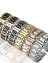 cheap -Watch Band for Samsung Gear S3 Samsung Galaxy Classic Buckle / Jewelry Design Stainless Steel / Ceramic Wrist Strap