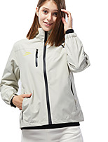 cheap -Women's Girls' Hiking Jacket Outdoor Thermal Warm Waterproof Windproof Breathable Jacket Camping / Hiking Hunting Climbing Black / Fuchsia / Pink / Ivory