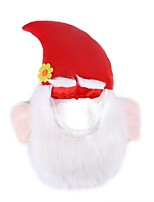 cheap -Dog Cat Ornaments Hats, Caps & Bandanas Christmas Headwarmers Dog Clothes Red Costume Fabric S M