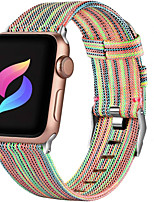 cheap -Canvas Nylon Watch Band for Apple Watch Series 6 SE 5 4 3 2 1  38mm 40mm 42mm 44mm Replaceable Bracelet Wrist Strap Wristband