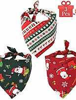 cheap -dog bandana puppy christmas scarf, 3pcs for small medium and large dogs, pet accessory printing cat kerchief for travel triangle bibs for christmas (christmas, 3 pack)