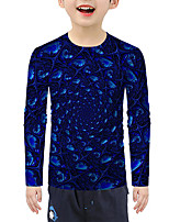 cheap -Kids Boys' Active Basic 3D Print Long Sleeve Blouse Blue