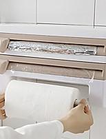 cheap -cling film cutting rack storage rack, multifunctional kitchen cling film sauce bottle paper towel holder storage rack kitchen accessories (391024cm) (khaki)