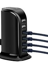 cheap -Socket Universal 6A 6 Ports USB Rapid Charging Socket HUB Splitter EU Plug