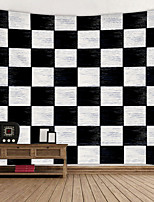 cheap -Black And white grid Digital Printed Tapestry Decor Wall Art Tablecloths Bedspread Picnic Blanket Beach Throw Tapestries Colorful Bedroom Hall Dorm Living Room Hanging