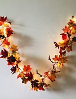 cheap -1.7M 20LEDs Autumn Maple Leaf Rattan LED String Lights Holiday Party Garden Thanksgiving Harvest Festival Decorative Light No Battery Delivery