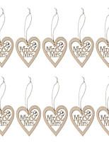 cheap -Wooden laser carved Mr & Mrs wedding care Pendant