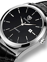 cheap -YAZOLE Men's Sport Watch Quartz Formal Style Stylish Casual Water Resistant / Waterproof PU Leather Black / Brown Analog - Black / Silver White Black