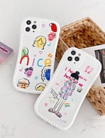 cheap -Case For Apple iPhone 7 8 plus SE 2020 X XS XR XS max  11 11 Pro 11 Pro Max Pattern Back Cover  Cartoon TPU cute LOVELY word phrase