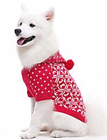 cheap -snowflake dog christmas sweaters for medium dogs with hood