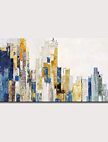 cheap -Mintura  Large Size Hand Painted Abstract City Landscape Oil Paintings On Canvas Modern Pop Art Posters Wall Picture For Home Decoration No Framed Rolled Without Frame